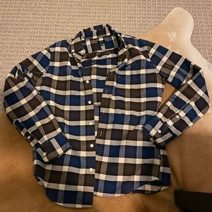 J crew size medium blue plaid flannel